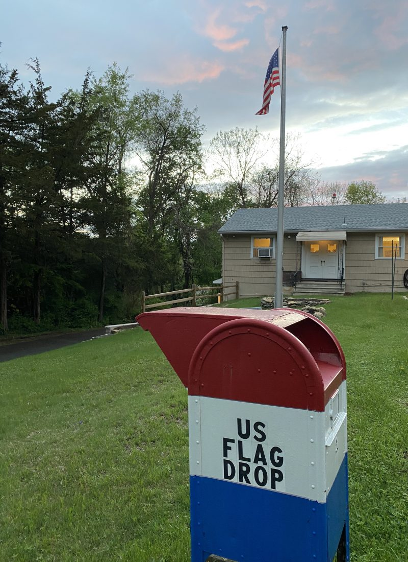 American Flag Disposal Drop Box at VFW in Denville, NJ - DenvilleGuide.com