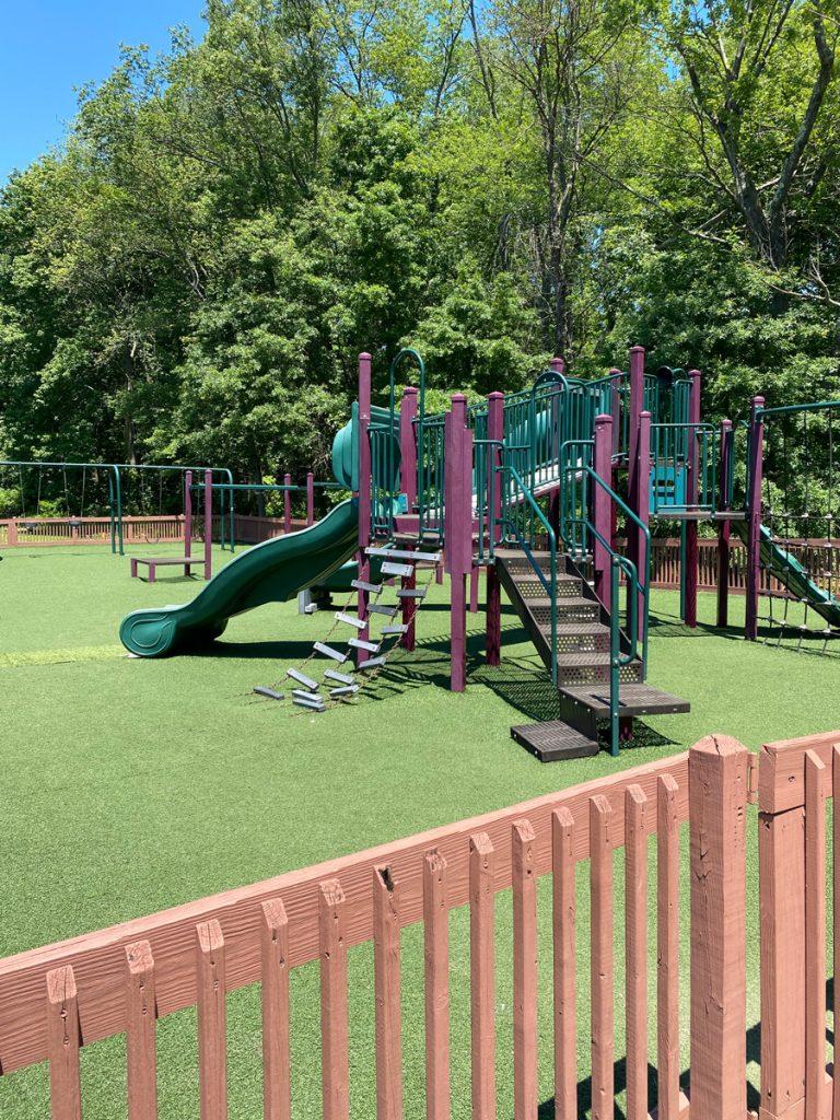 Fenced playground at Muriel Hepner Park in Denville NJ - DenvilleGuide.com