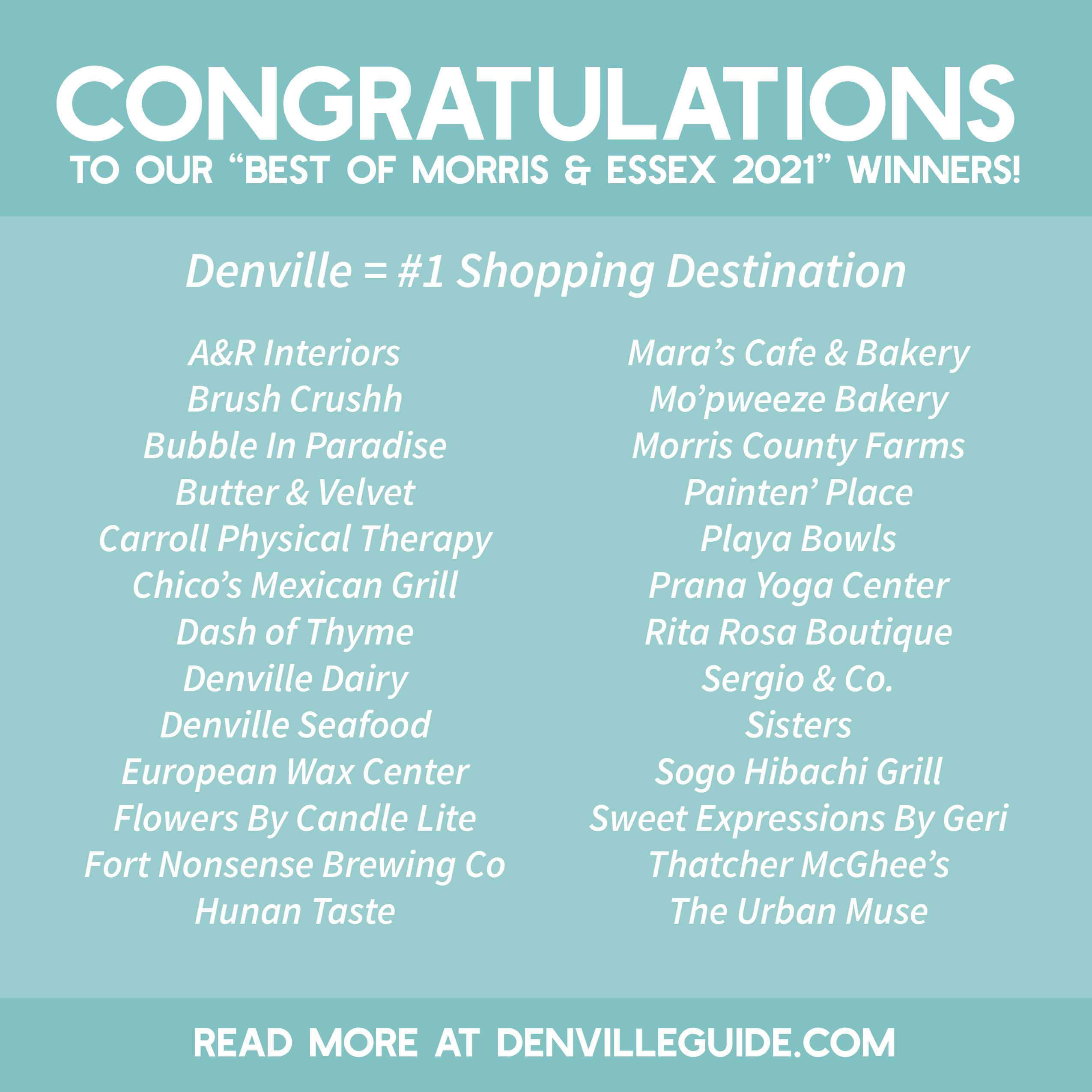 Best of Morris & Essex 2021 Winners in Denville - DenvilleGuide.com